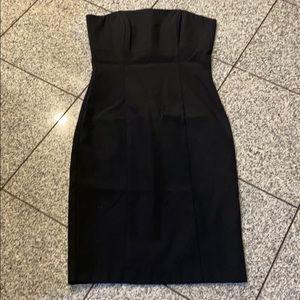 Dresses & Skirts - Beautiful black straight w/boning midi dress, 12